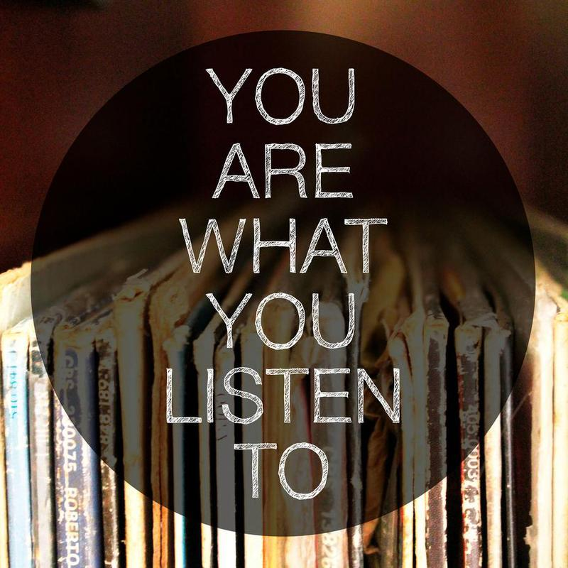 You Are What You Listen To tableau en verre