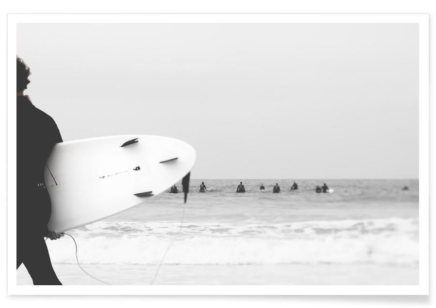 Schwarz & Weiß, Surfen, Catch a Wave II -Poster