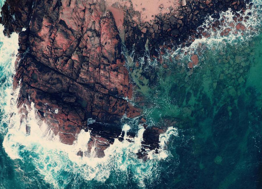 Emerald Green Sea canvas doek