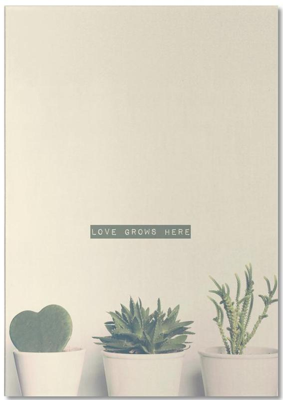 Love Grows Here bloc-notes
