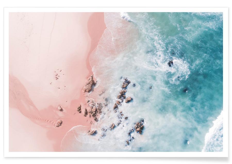 Strande, Lyserød strand Plakat