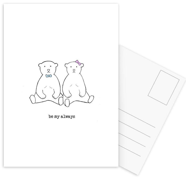 Ours, Mariages, Citations d'amour, Saint-Valentin, Be My Always cartes postales