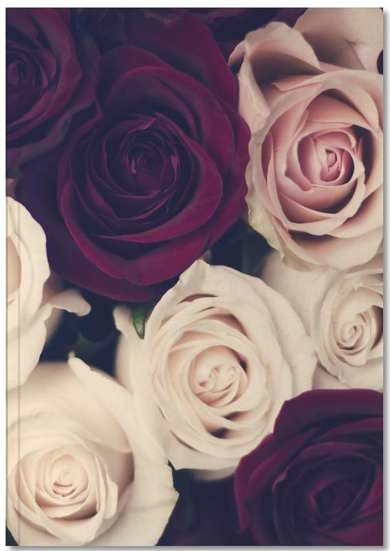 Roses, Félicitations, Saint-Valentin, Rose Bouquet Notebook