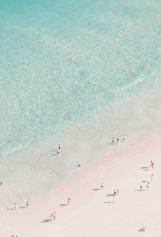 Beach Love tableau en verre