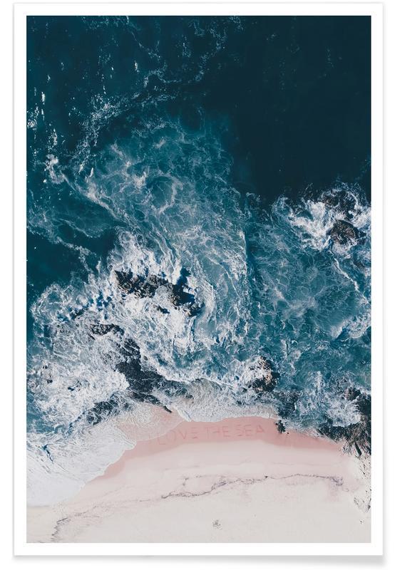 Strande, Hav, sø & havlandskab, I Love The Sea Plakat