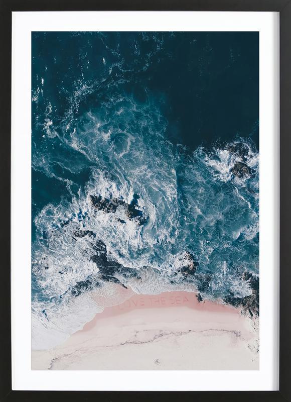 I Love The Sea Framed Print