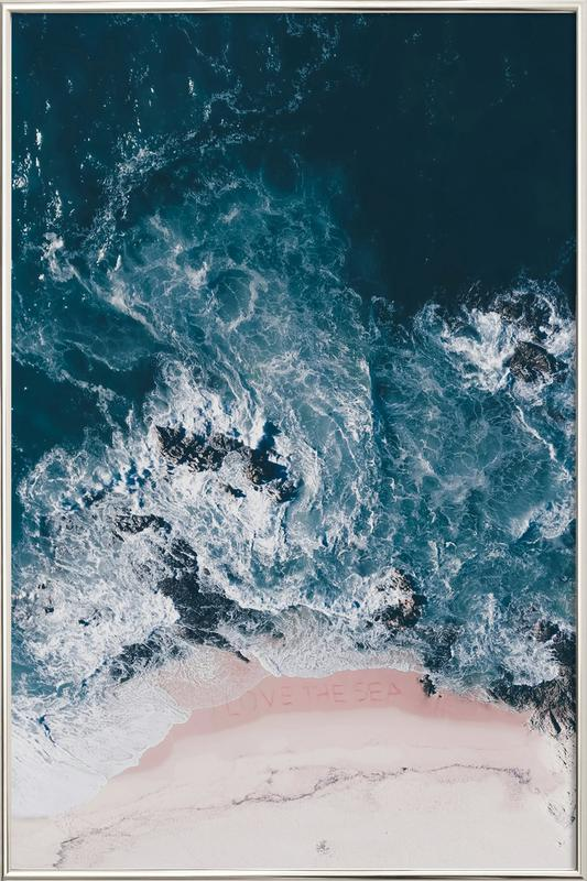 I Love The Sea affiche sous cadre en aluminium