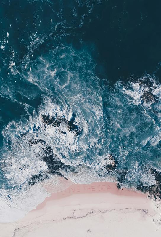 I Love The Sea -Acrylglasbild