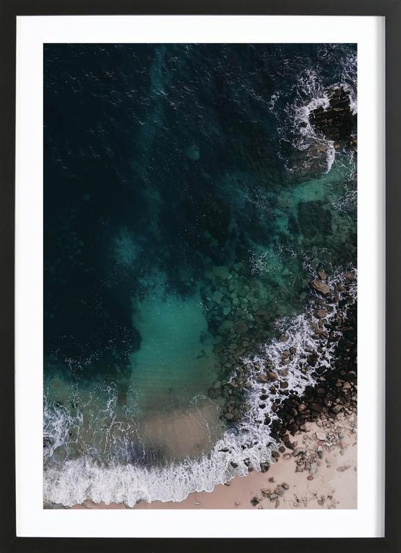 Ocean Blues -Bild mit Holzrahmen