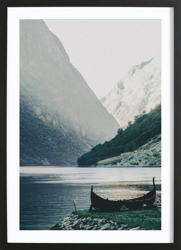 Silence -Bild mit Holzrahmen