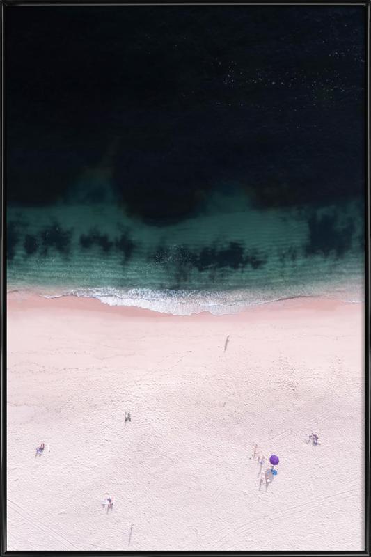 The Purple Umbrella -Bild mit Kunststoffrahmen