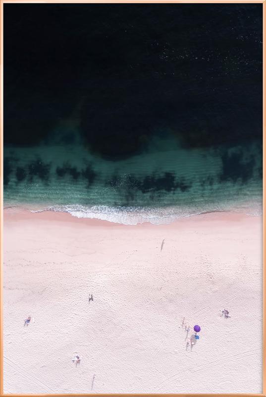 The Purple Umbrella -Poster im Alurahmen