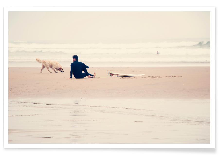 Stranden, Surfen, Yoga, Beach Yoga poster