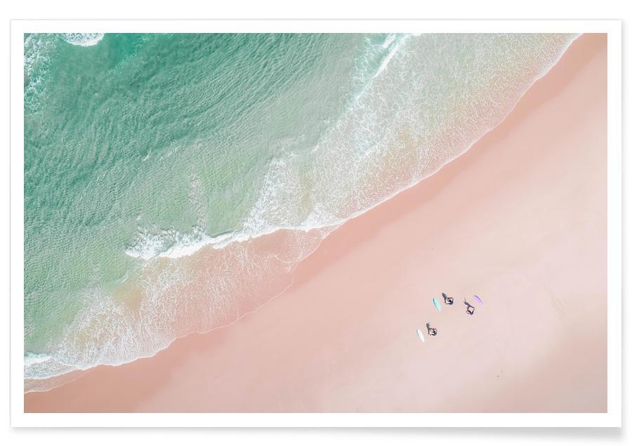 Yoga, Ozeane, Meere & Seen, Surfen, Strände, Surf Yoga -Poster