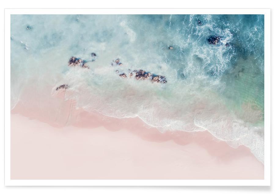 Ozeane, Meere & Seen, Strände, Ocean Pink Blush -Poster