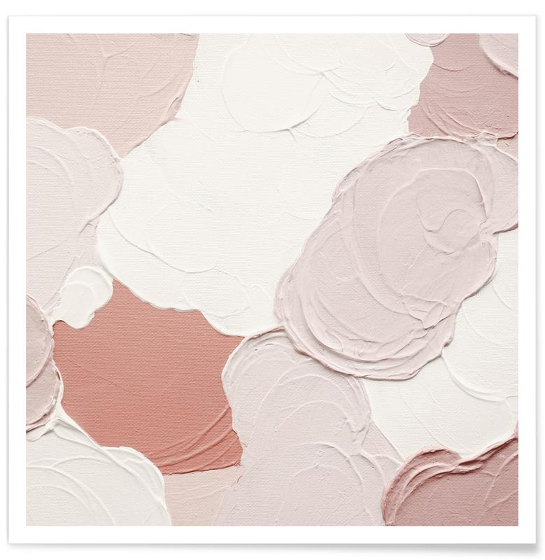 , Cloudy Pink Abstract affiche