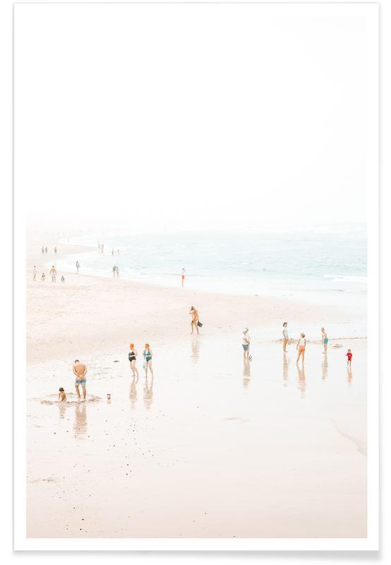 Abstracte landschappen, Stranden, At The Beach poster