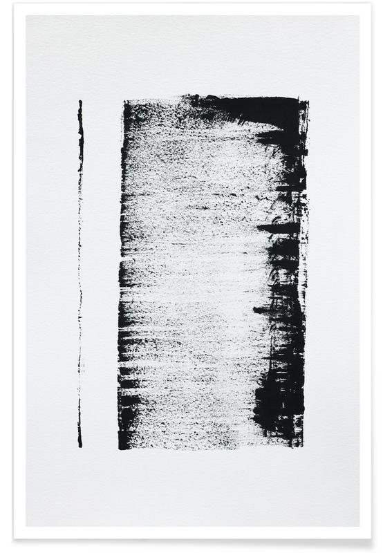 , Black And White Minimal Abstract affiche