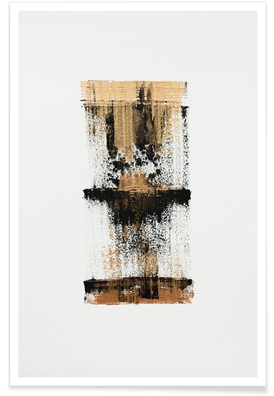 , Gold And Black Minimal Abstract affiche