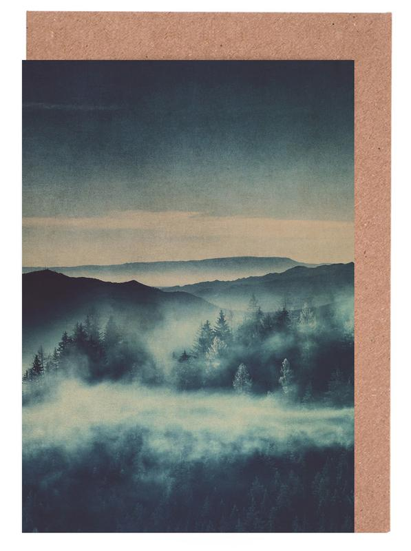 Wälder, Berge, Bäume, Blätter & Pflanzen, Misty Morning -Grußkarten-Set