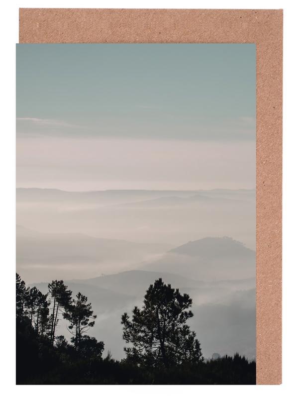 Wälder, Berge, Bäume, Blätter & Pflanzen, Mountain Range -Grußkarten-Set
