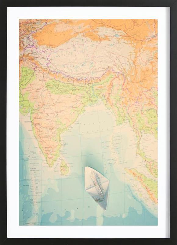 map-india Framed Print