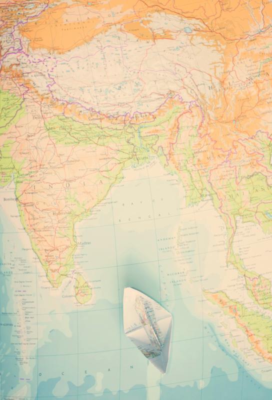 map-india Acrylic Print