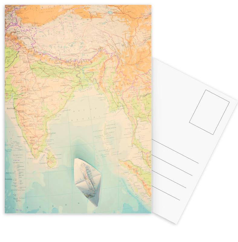 Country Maps, map-india Postcard Set