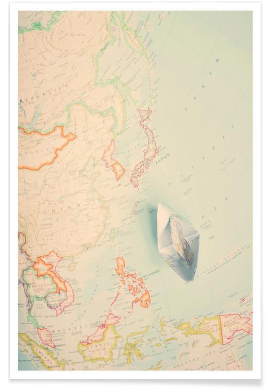 Cartes de pays, map-japan affiche