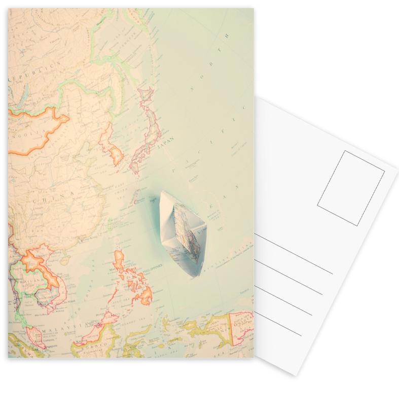 Country Maps, map-japan Postcard Set