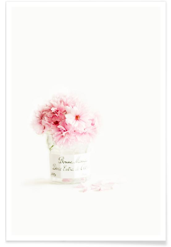 , pink blossoms affiche