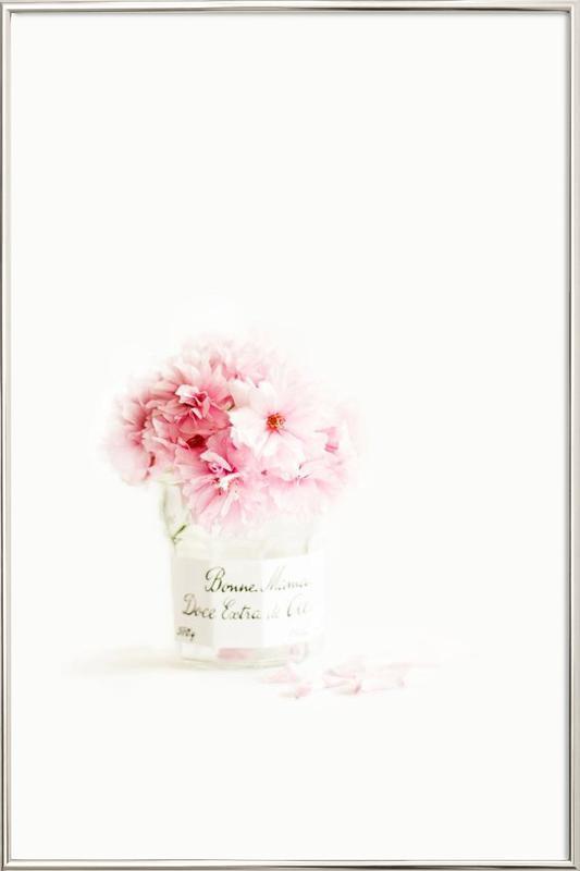 pink blossoms -Poster im Alurahmen