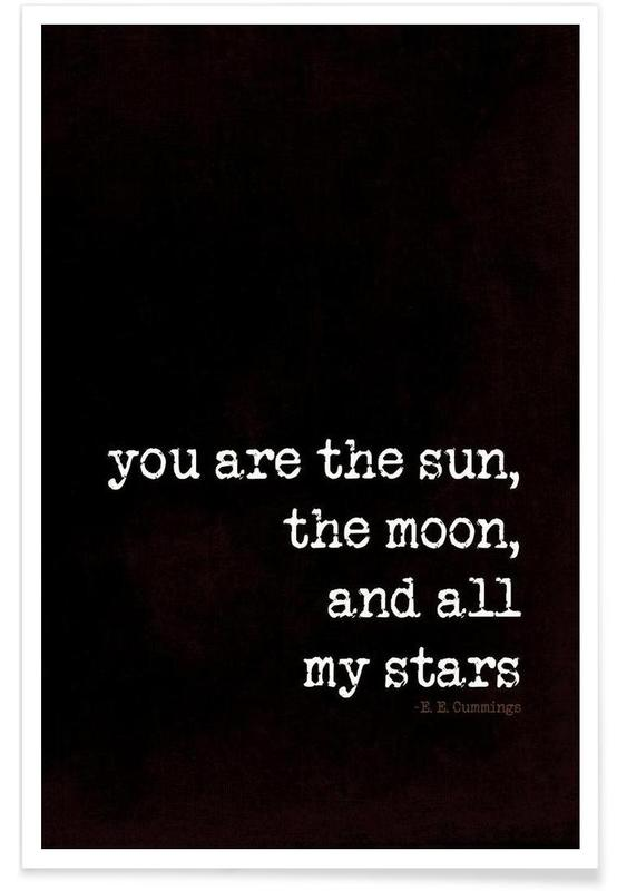 sun, moon stars affiche
