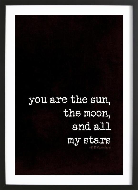 sun, moon stars ingelijste print