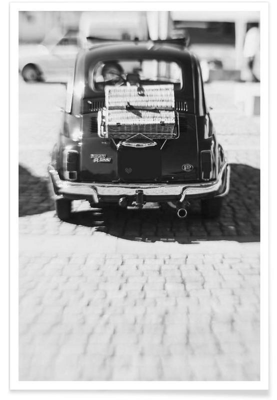 Zwart en wit, Auto's, His poster