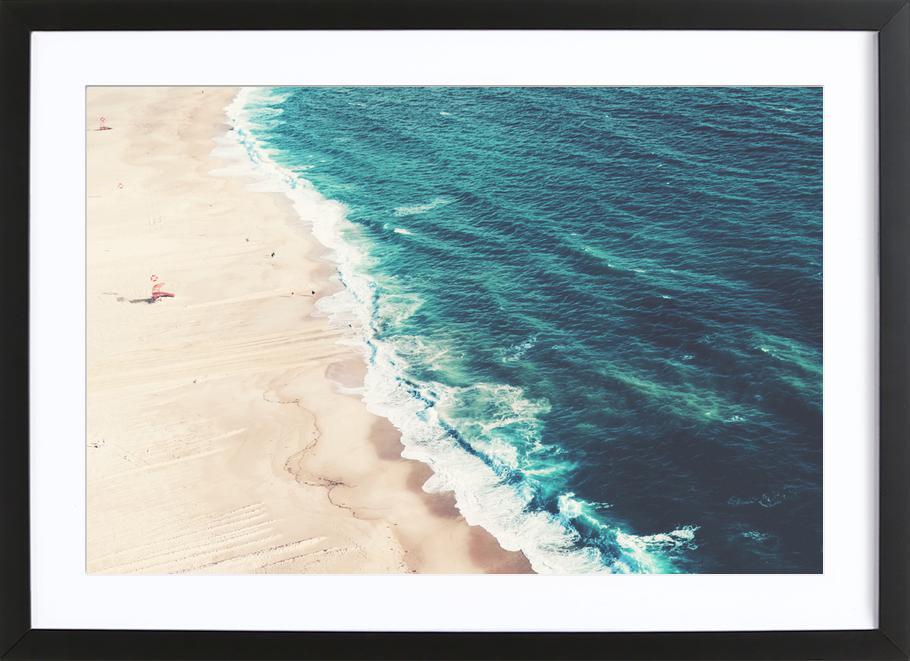 Nazare Beach ingelijste print
