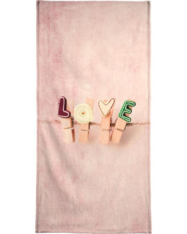 Hung up on Love serviette de bain