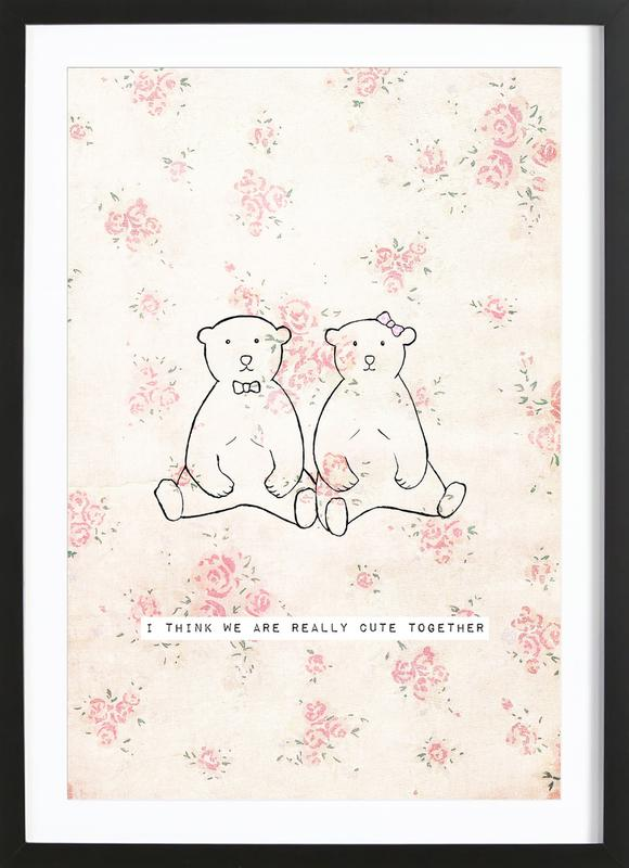 I Think We Are Really Cute Together Framed Print