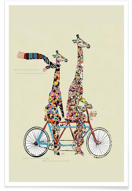 Bicycles, Giraffes, giraffes days lets tandem Poster