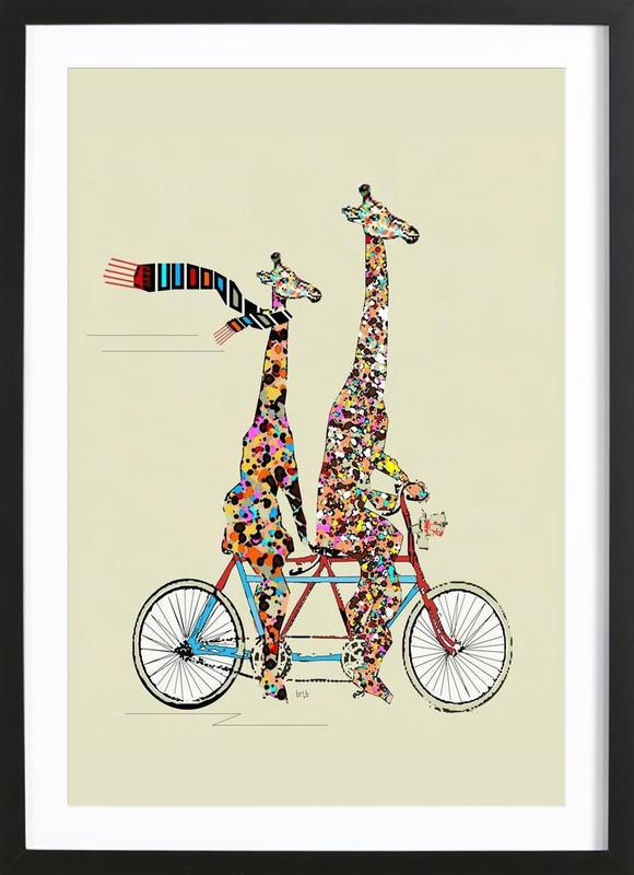 giraffes days lets tandem Framed Print