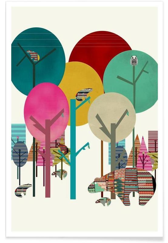 Art pour enfants, hide and seek affiche