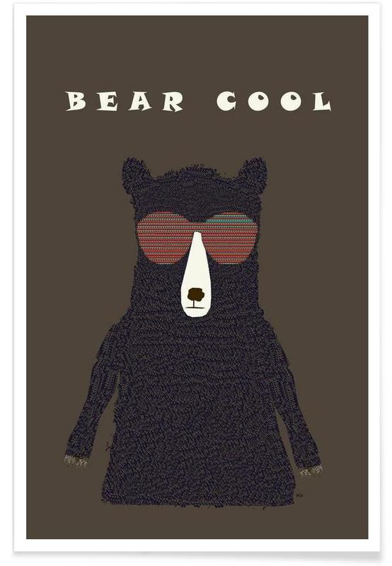 Ours, bear cool affiche