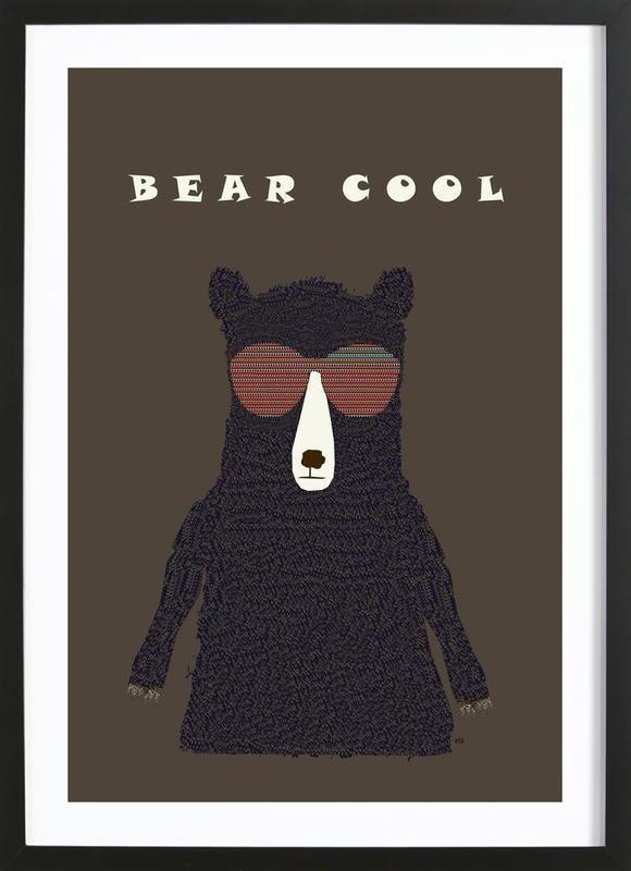 bear cool -Bild mit Holzrahmen