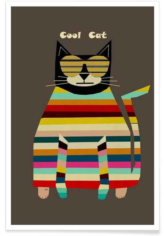 Chats, cool cat affiche