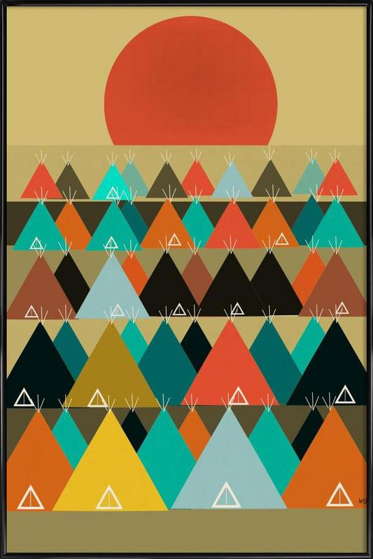 tipi moon Framed Poster