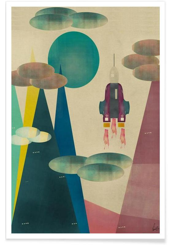 Art pour enfants, Fusées et vaisseaux spatiaux, life on mars affiche