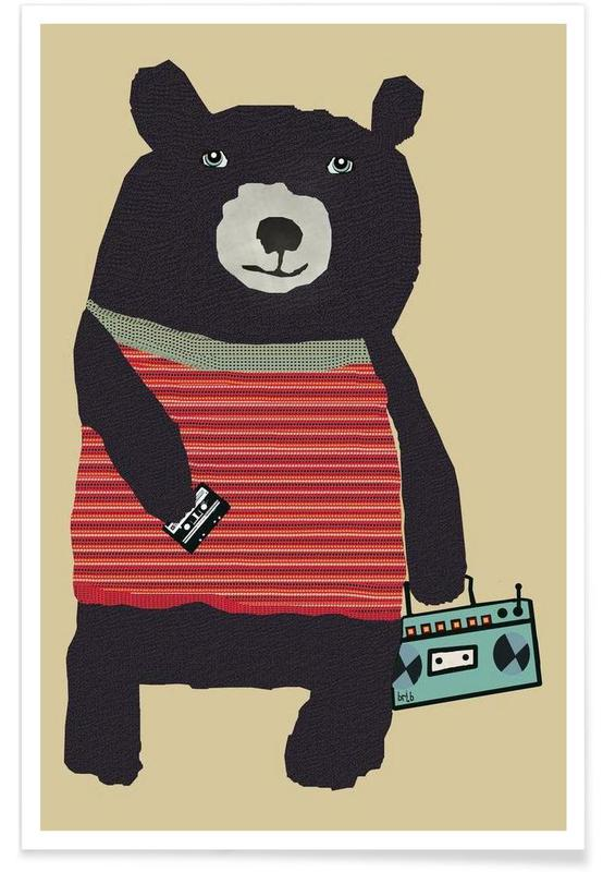 Ours, boomer bear affiche