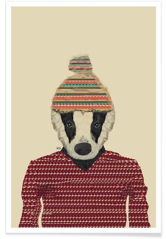 seb the badger affiche