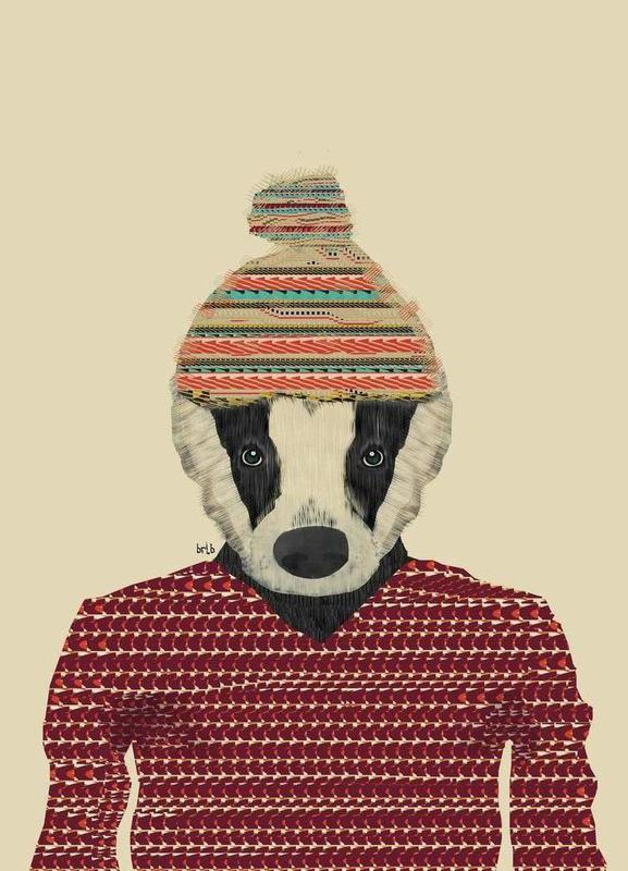 seb the badger -Leinwandbild