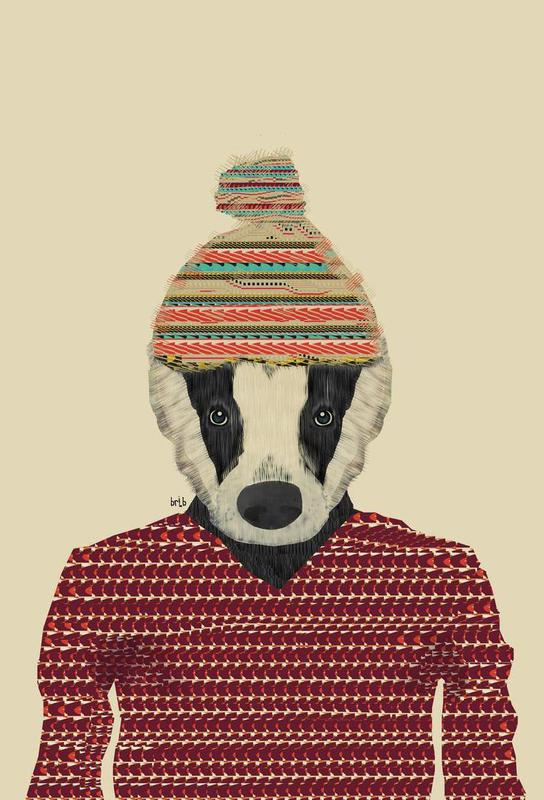 seb the badger -Acrylglasbild